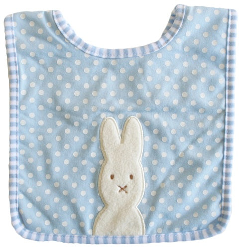 Bunny Applique Bib Blue - piper-and-dune - Baby + Kids