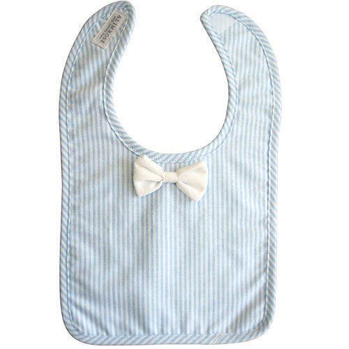 Bow Tie Bib Blue Stripe - piper-and-dune - Baby + Kids