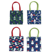 Hometown Holiday Blue Medium Itsy Bitsy Gift Bags - 4 Styles