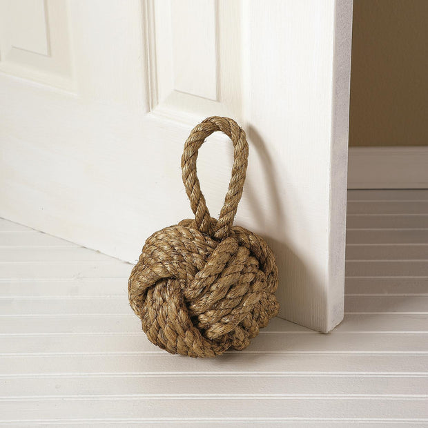 Nautical Jute Knot Door Stopper