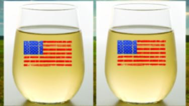 American Flag Shatterproof Stemless Wine Glass | Wine-Oh! - 2-Pack