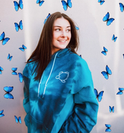 Unisex Blue Storm Tie-Dye Hoodie | Shelly Cove