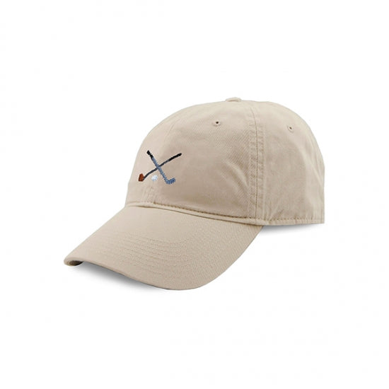 Crossed Clubs Golf Needlepoint Hat (Stone)