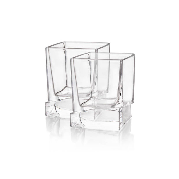 Carre Whiskey Old Fashioned Glasses - Shatter Resistant Glass