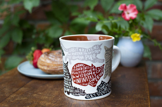 Literary Cat Mug | The Unemployed Philosophers Guild