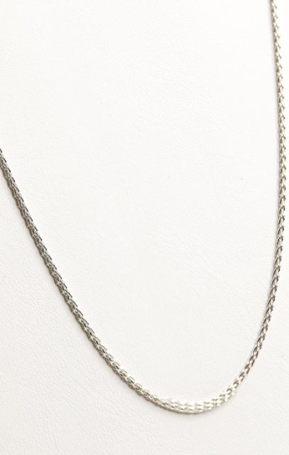 "Sterling Silver 20"" Spiga Wheat Chain Necklace - 1.8MM - piper-and-dune - Jewelry"