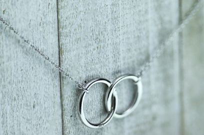 Sterling Silver Double Circle Necklace - piper-and-dune - Jewelry