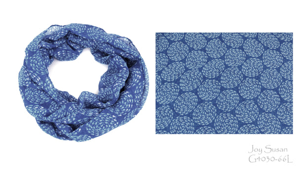 Whale Infinity Scarf - Nantucket Blue