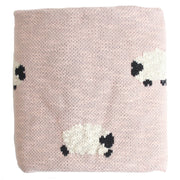 Organic Cotton Baa Baa Blanket - Grey or Pink
