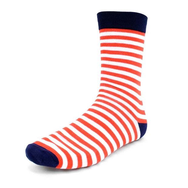 Men's Red & White Stripes Novelty Socks
