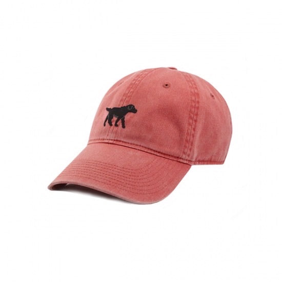 Black Lab Needlepoint Hat -Nantucket Red