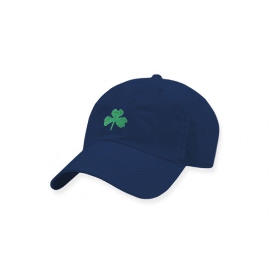 Shamrock Needlepoint Hat - Navy