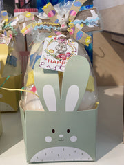 Hoppy Easter White Chocolate Egg with Surprise Inside! - 3 Color Options!