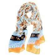 Coral Lucky Elephant Scarf