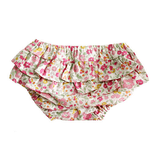 Ruffle Nappy Cover - Rose Garden (3-6 Months)