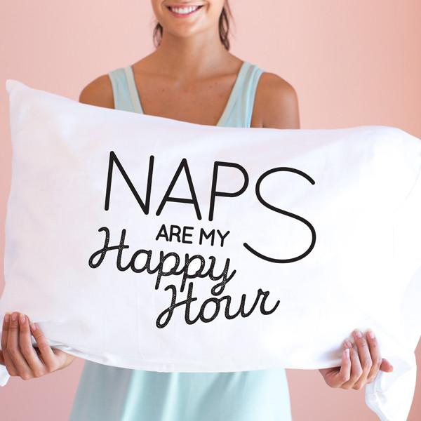 Naps are my Happy Hour Pillowcase - Double Sided Standard/Queen | Faceplant Dreams