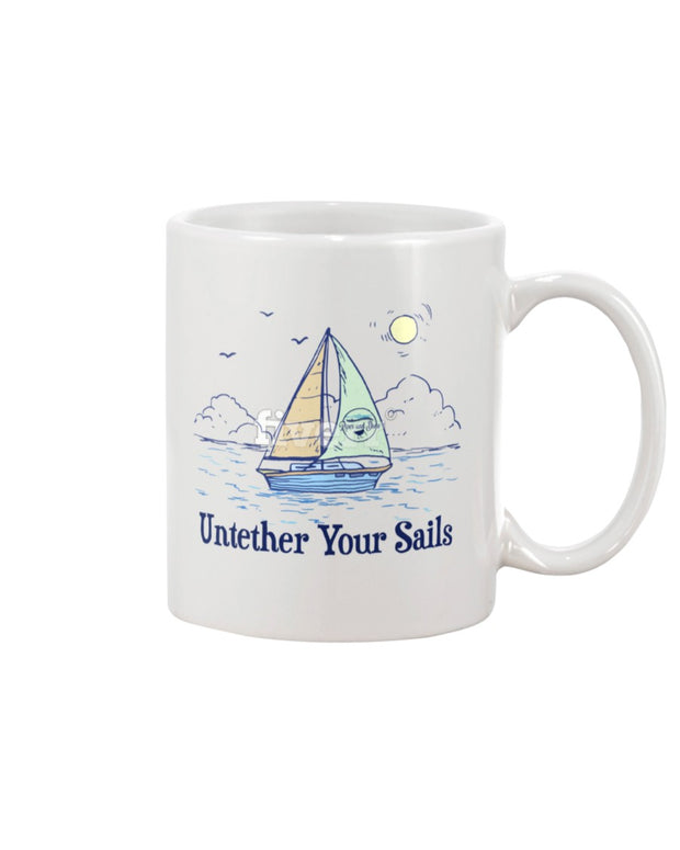 "Piper and Dune ""Untether Your Sails"" 15oz Mug"