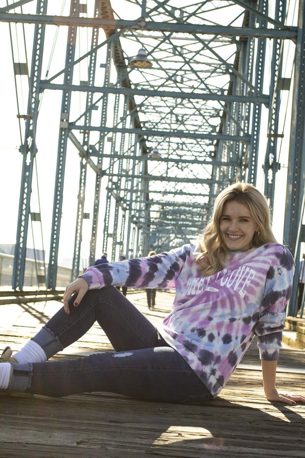 Retro Tie Dye Crew Neck - Long Sleeve T-Shirt