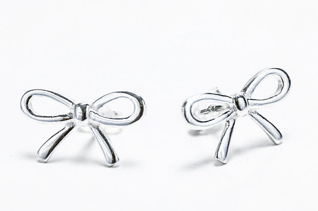 Sterling Silver Bow Earrings - piper-and-dune - Jewelry