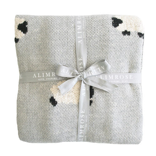 Organic Cotton Baa Baa Blanket - Grey or Pink - piper-and-dune - Baby + Kids