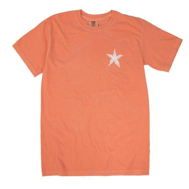 Melon Starfish Mosaic T-Shirt | Shelly Cove