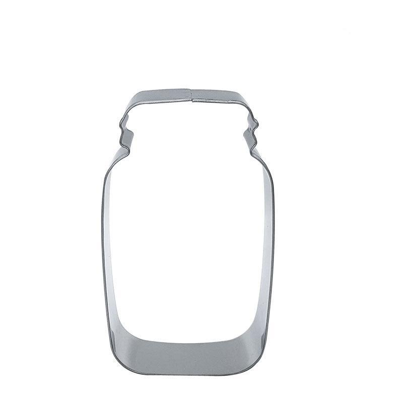 Mason Jar Cookie Cutter - 9cm - Stainless Steel - Crafty Cookie Cutters