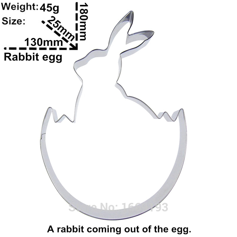 Hatching Rabbit Cookie Cutter - 18cm - Stainless Steel - Crafty Cookie Cutters