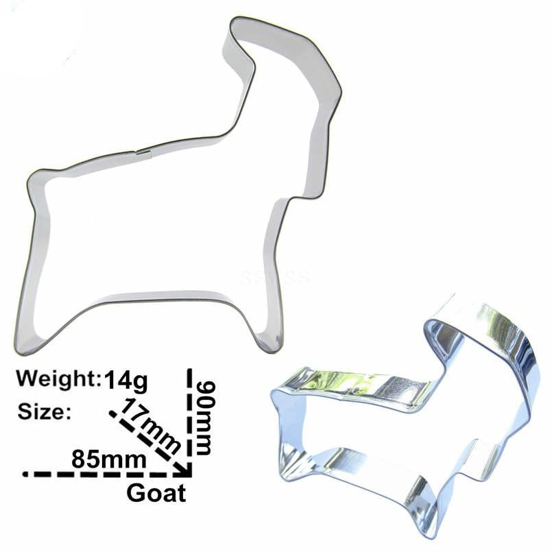 Goat Cookie Cutter - 9cm - Stainless Steel - Crafty Cookie Cutters