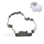 Cartoon Sheep Cookie Cutter - 8cm - Stainless Steel - Crafty Cookie Cutters