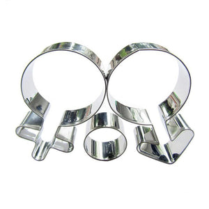 Gender Cookie Cutter Set - 2pcs - Stainless Steel - Crafty Cookie Cutters