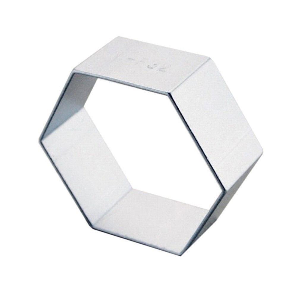 Hexagon Cookie Cutter - 5cm - Stainless Steel - Crafty Cookie Cutters