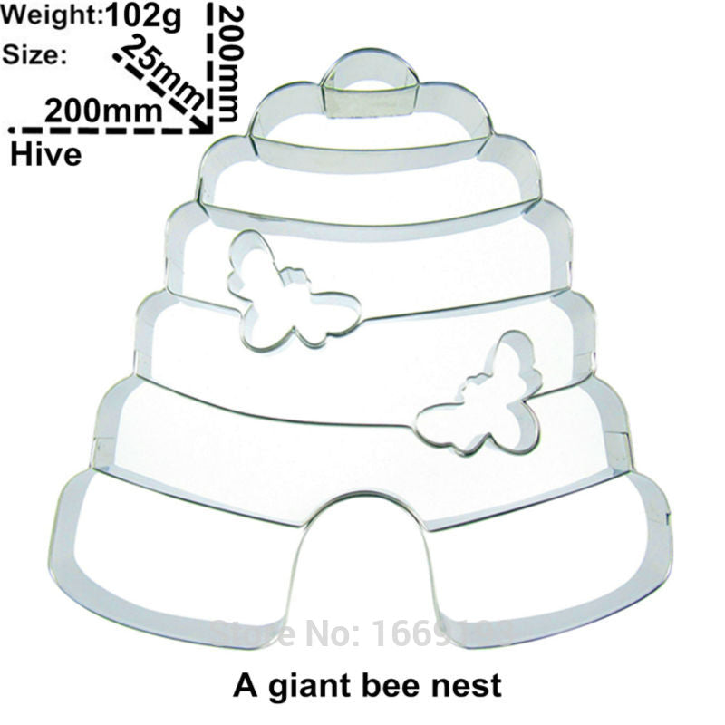 Giant Bee Hive - 20cm - Stainless Steel - Crafty Cookie Cutters