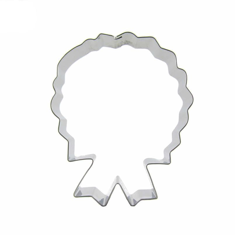 Prize Ribbon Cookie Cutter - 10cm - Stainless Steel - Crafty Cookie Cutters
