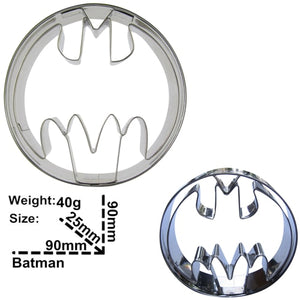 Circle Batman Cookie Cutter -9cm - Stainless Steel - Crafty Cookie Cutters