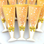 Champagne Glass Cookie Cutter - 13cm - Stainless Steel - Crafty Cookie Cutters
