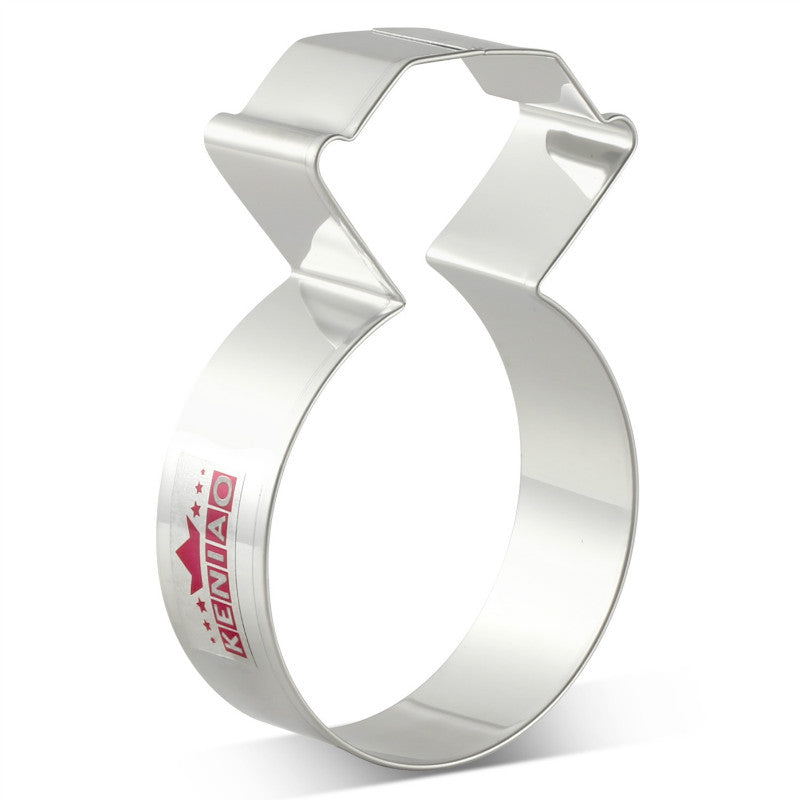 Diamond Ring Cookie Cutter - 10cm - Stainless Steel - Crafty Cookie Cutters