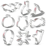 Halloween Celebration Cookie Cutter Set - 9pcs - Stainless Steel - Crafty Cookie Cutters