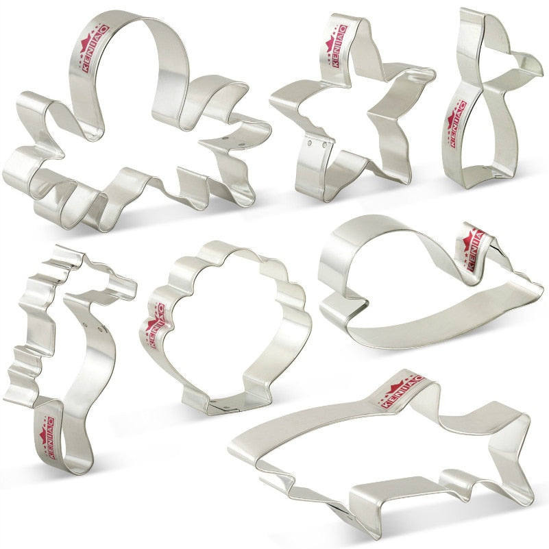 Under the Sea Cookie Cutter Set - 7pcs - Stainless Steel - Crafty Cookie Cutters