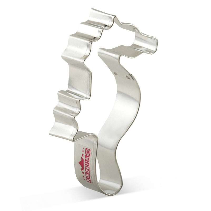Seahorse Cookie Cutter - 12cm - Stainless Steel - Crafty Cookie Cutters