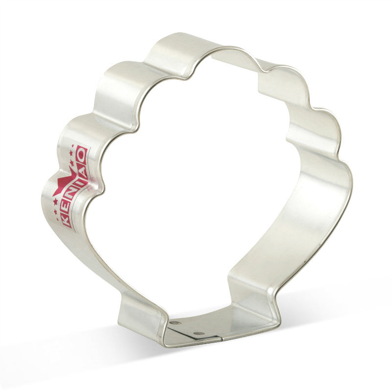 Clamshell Cookie Cutter - 10cm - Stainless Steel - Crafty Cookie Cutters