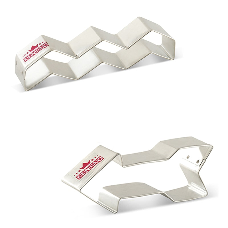 Chevron and Arrow Cookie Cutter Set  - 2pcs - Stainless Steel - Crafty Cookie Cutters