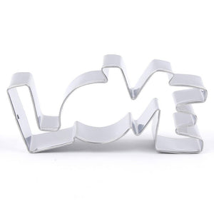 Love Word Cookie Cutter - Stainless Steel - Crafty Cookie Cutters