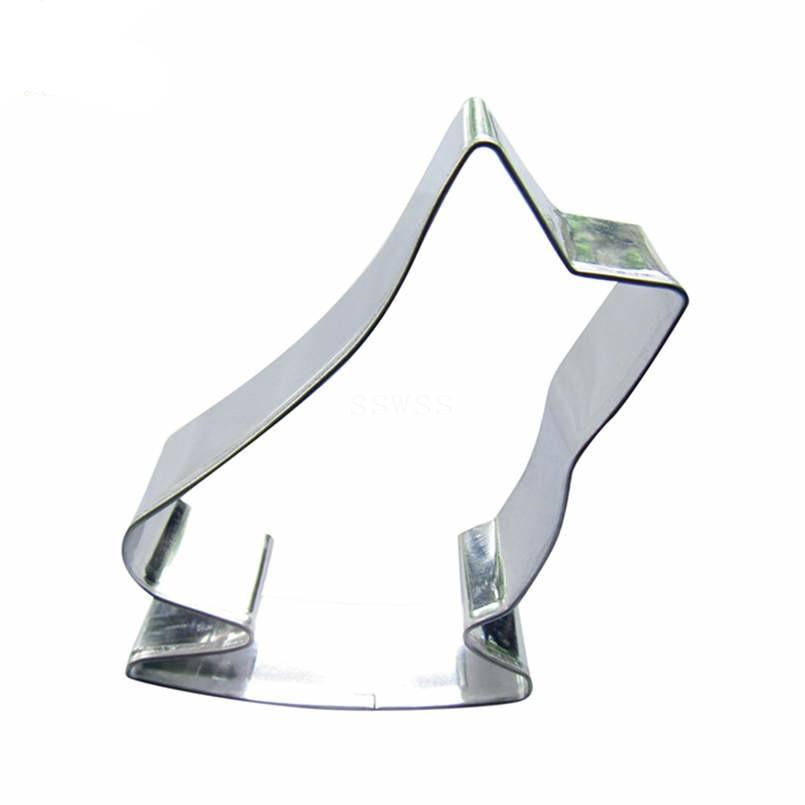 Long Ice Skate Cookie Cutter - 10cm - Stainless Steel - Crafty Cookie Cutters