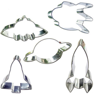 Outer Space Cookie Cutter Set - 5pcs - Metal - Crafty Cookie Cutters