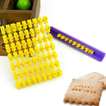 Embossing Letter Set - Plastic - Crafty Cookie Cutters