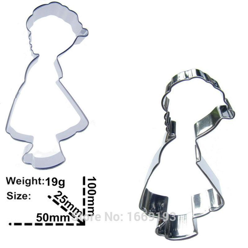 Children Cookie Cutter Set - 2pcs - Stainless Steel - Crafty Cookie Cutters