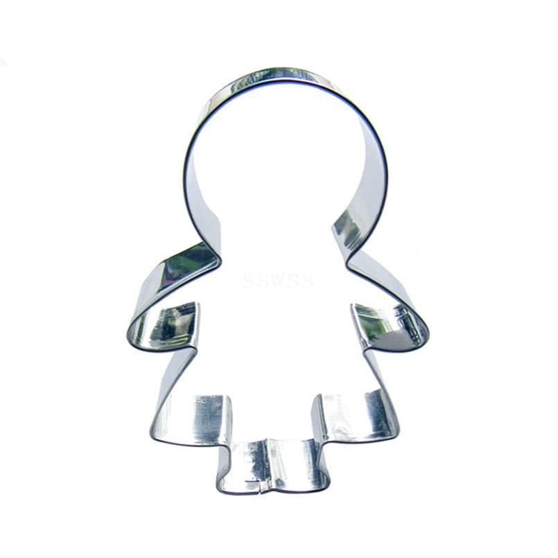 Girl Cookie Cutter - 10cm - Stainless Steel - Crafty Cookie Cutters