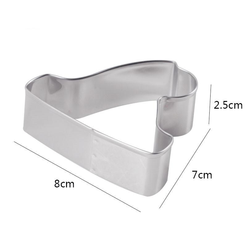 Santa Hat Cookie Cutter - 8cm - Stainless Steel - Crafty Cookie Cutters