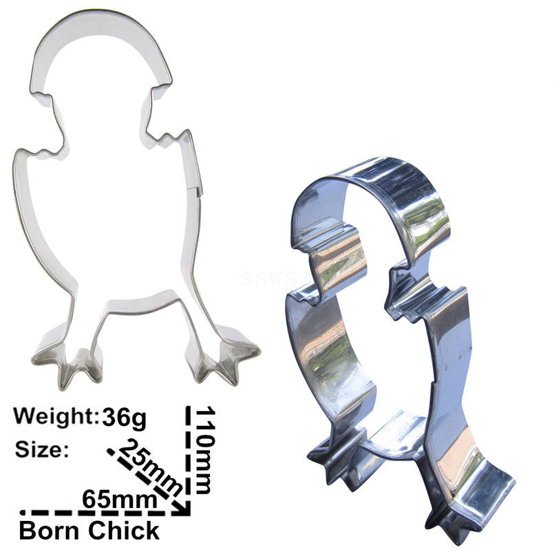 Hatching Chick Cookie Cutter - 11cm - Stainless Steel - Crafty Cookie Cutters