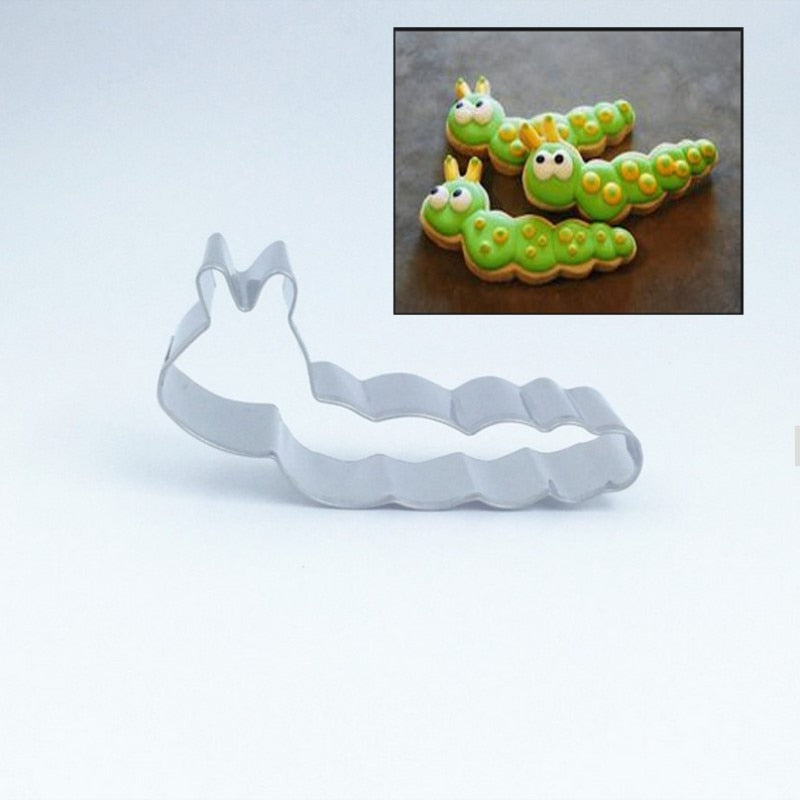 Caterpillar/Worm Cookie Cutter - Stainless Steel - Crafty Cookie Cutters